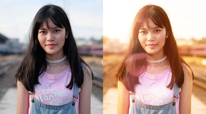 วิธีทำภาพโทนร้อน พร้อมใส่แสงแฟร์ ด้วยแอพ PicsArt