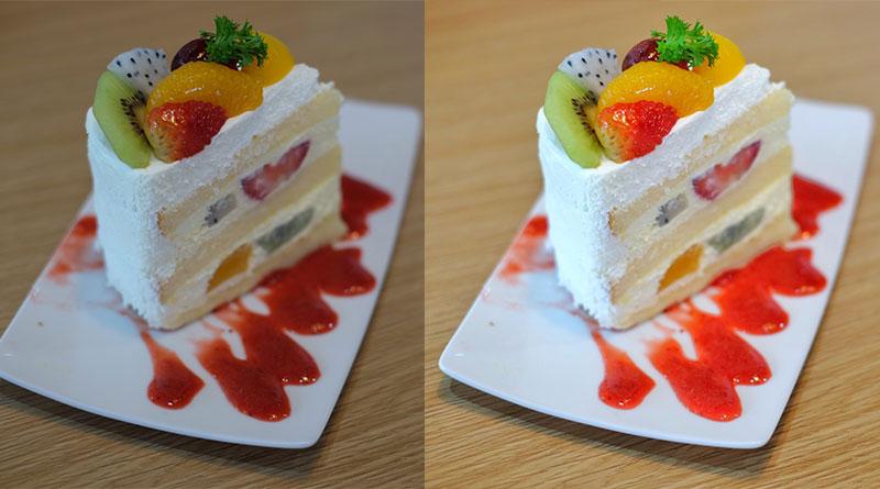 วิธีแต่งรูปขนมเค้ก ให้สว่างและมีสีสันที่น่าทาน ด้วย Snapseed